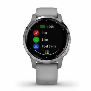 Garmin vivoactive 4S Powder Gray and Silver GPS Smartwatch 010-02172-01