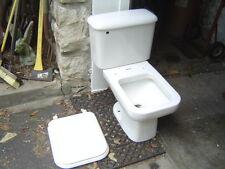 VINTAGE 80'S ONE FLUSH American Standard toilet 4064 tank SQUARE bowl WHITE