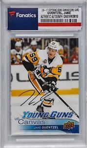 Jake-Guentzel-Penguins-Signed-2016-17-Upper-Deck-Young-Guns-Rookie-C235-Card