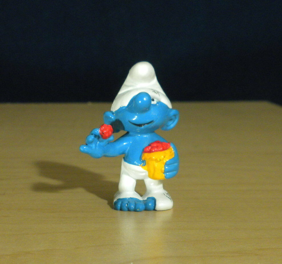 Smurfs Tramp Smurf 20422 Hobo Sloppy Vintage Figure Rare 1993 Schleich PVC Toy