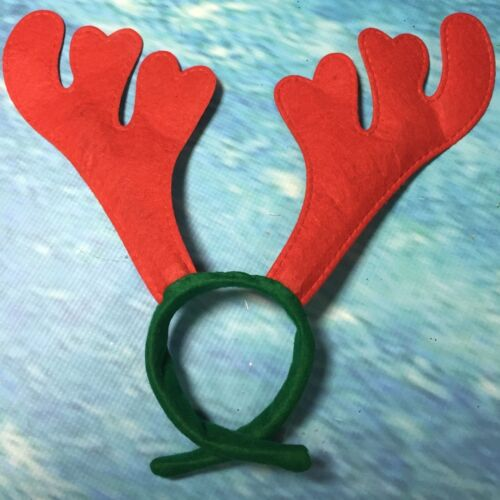Pack of 10 Christmas Party Reindeer Antler Head Bands Festive Fun Parties Xmas