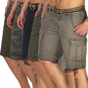 Timezone-Herren-Cargo-Shorts-kurze-Hose-Bermuda-Herrenhose-Maguire-24-10001