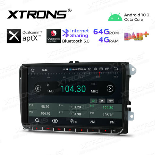 """9/"""" Android10.0 Octa-Core 4GB+64GB Car Radio GPS Stereo For VW Polo Caddy CAMERA"""