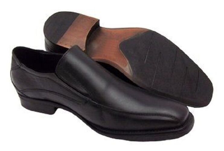 Mens New Casual Slip On Smart Formal Black LEATHER shoes Size 7-11 UK