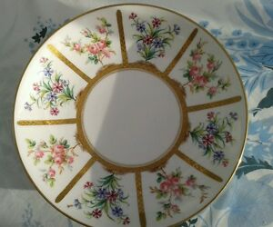 MINTON PORCELAIN DISH PLATE TOOLED GILDING  HANDPAINTED FLORAL PANELS 19THC 1867 - washington, Tyne and Wear, United Kingdom - MINTON PORCELAIN DISH PLATE TOOLED GILDING  HANDPAINTED FLORAL PANELS 19THC 1867 - washington, Tyne and Wear, United Kingdom