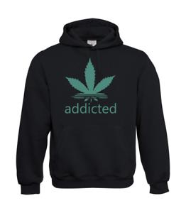 Addicted-Hemp-I-Patter-I-Fun-I-Funny-to-5XL-I-Men-039-s-Hoodie