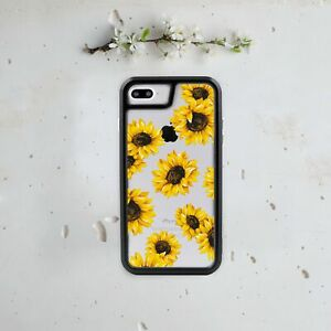 first rate 50704 dfc5f Details about Sunflower iPhone 7 Plus Case Floral iPhone 8 TPU Bumper  iPhone 6 6s + Backplate