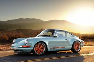 Iconic Arts Laminated 36x24 Poster: Porsche 911