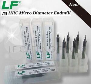 DIA 0.7MM micro end mill HRC55 2 flute Tungsten Carbide Flat CNC milling cutter