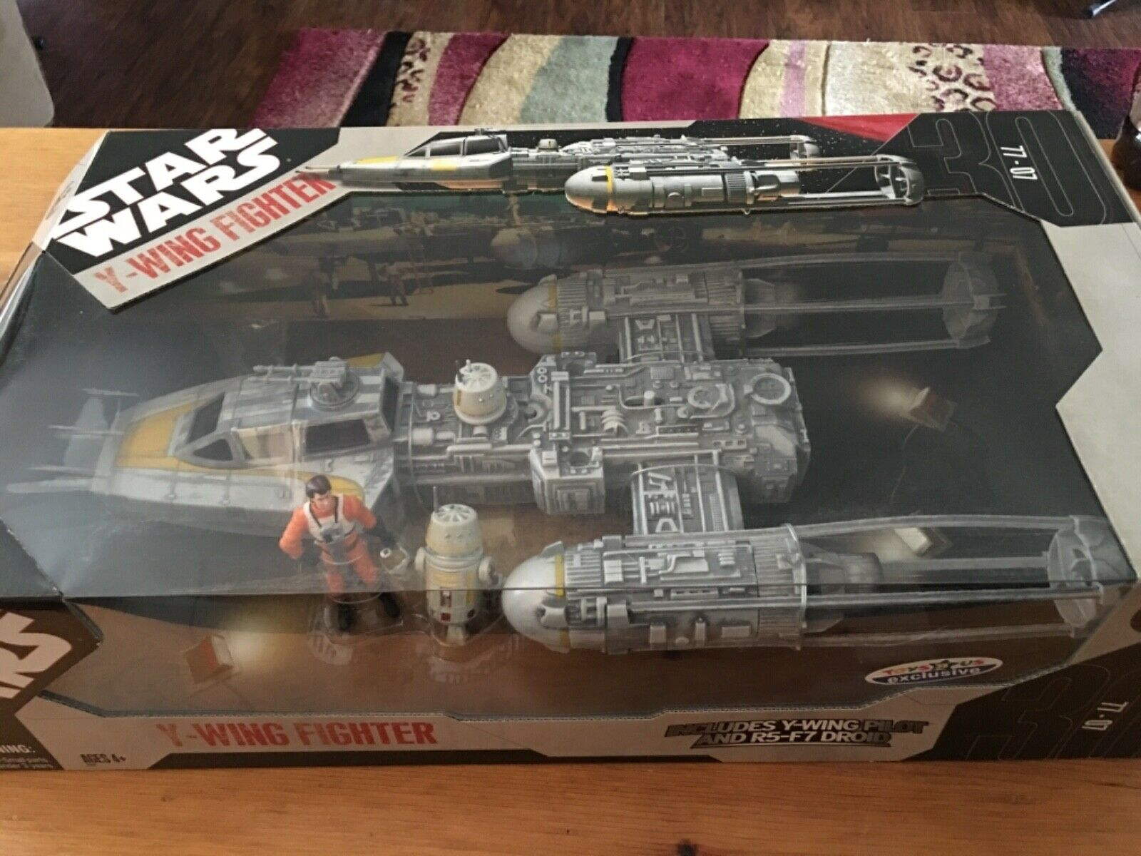 STAR WARS Y WING FIGHTER TOYS R US EXCLUSIVE NEW IN FACTORY SEALED BOX MINT PERF