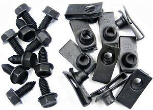 GM-Body-Bolts-amp-U-nut-Clips-5-16-18-x-13-16-034-Long-1-2-034-Hex-20-pcs-372