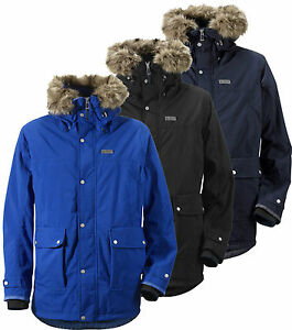 Details about Didriksons Brisk Mens Parka Waterproof Insulated Jacket