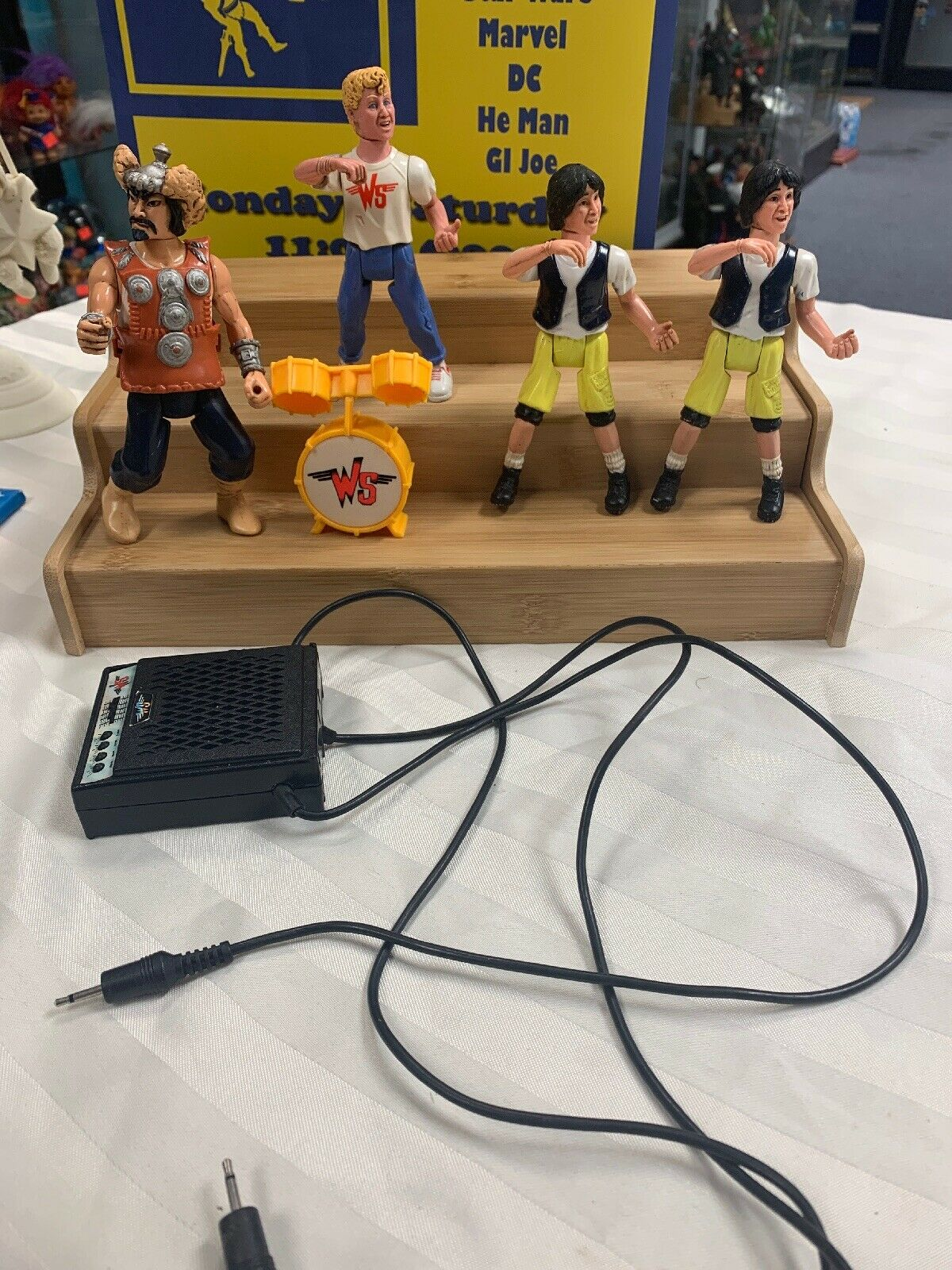 Vintage 1980s Kenner  Bill and Ted Lot With Amp Speaker Wild stallions