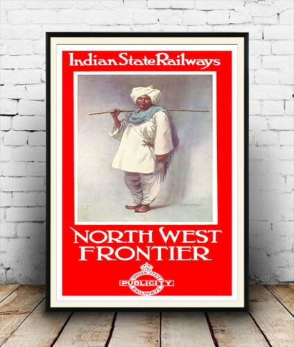 Indian State Railways Wall art. Reproduction poster Vintage Railway advert