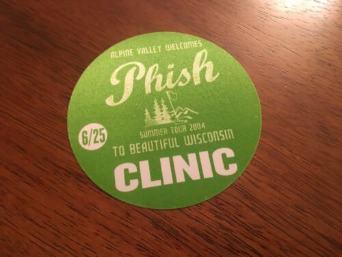 To Beautiful Wisconsin Summer Tour 2004 Green Clinic Pass Phish