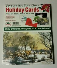 32 holiday greeting cards ampad for ink jet laser printers print