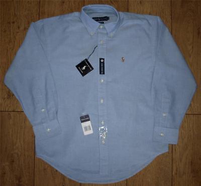 """Bnwt Autentico Ralph Lauren Yarmouth Oxford Camicia Abito 16"""" Xlarge Button Down-mostra Il Titolo Originale"""