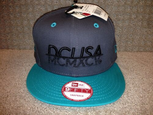 "Dark Grey//Black//Mint Green DC Men/'s Flex Snapback Hat /""RD MCMXCV/"" KTEO -"