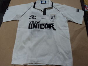 newest collection 605f2 f81d6 Details about old Soccer Jersey Santos Brazil with 10 Saude unicor size L  boys