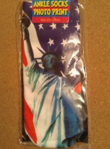 STATUE-OF-LIBERTY-3D-Photo-Print-Ankle-Socks-x1-UNISEX