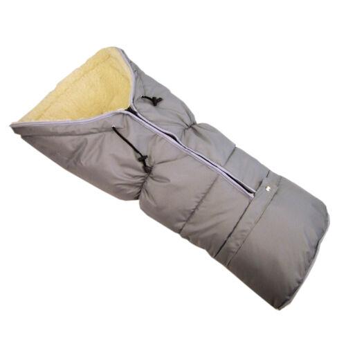 Winterfusssack Fusssack pour poussette et Buggy 100 Cm Neuf Laine Momie