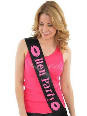 Hen Night Pink Sash Hen Party bachelorette Bridal Shower Party Girls Night OUT