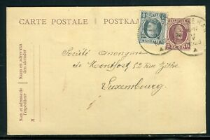 Contemplatif Belgique - Entier Postal + Complément De Marbehan Pour Luxembourg En 1923