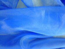 Stunning Designer ROYAL BLUE Poly/Nylon Silk-Like ORGANZA Sheer Solid Fabric