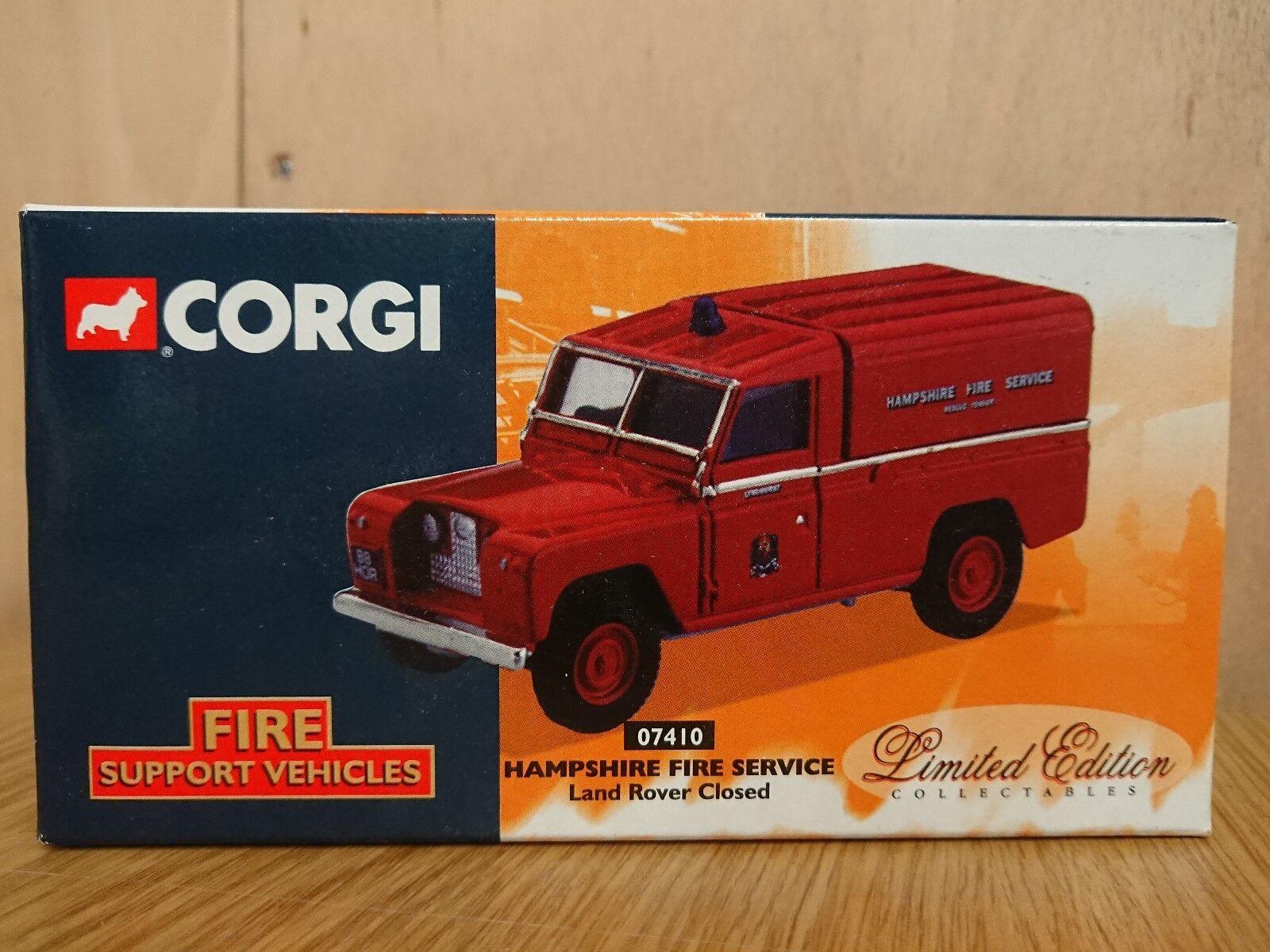 Corgi 07410 Hampshire Fire Brigade Land Land Land Rover Closed Ltd Ed. No. 0001 of 4000 70c764