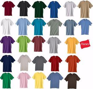 0895c616 Hanes Beefy-T TALL T-Shirt 100% Cotton 518T Mens LT XLT 2XLT 3XLT ...