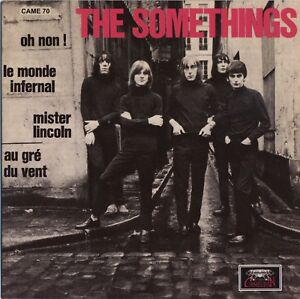 THE-SOMETHINGS-Le-Monde-Infernal-vinyl-7-034-EP-garage-punk-beat-fuzz-500-copies