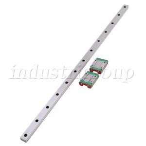 50cm-MGN15-Precision-Bearing-Steel-Linear-Sliding-Guide-Rail-amp-2-Sliding-Block