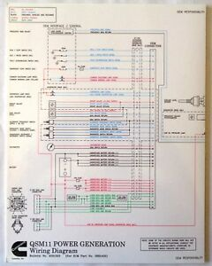 cummins laminated qsm 11 power generation wiring diagram ebay rh ebay com Bertram 46 Cummins Power QSM11 Marine