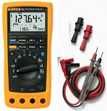 Fluke 187 True Rms Electronics Logging Multimeter Tl71 Test Lead And Ac175 Clips