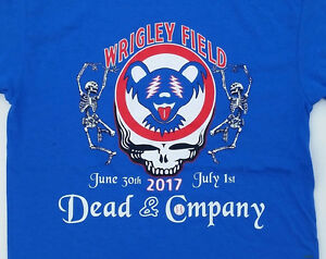 dead and company 2017 wrigley field concert t shirt grateful dead chicago cubs ebay. Black Bedroom Furniture Sets. Home Design Ideas