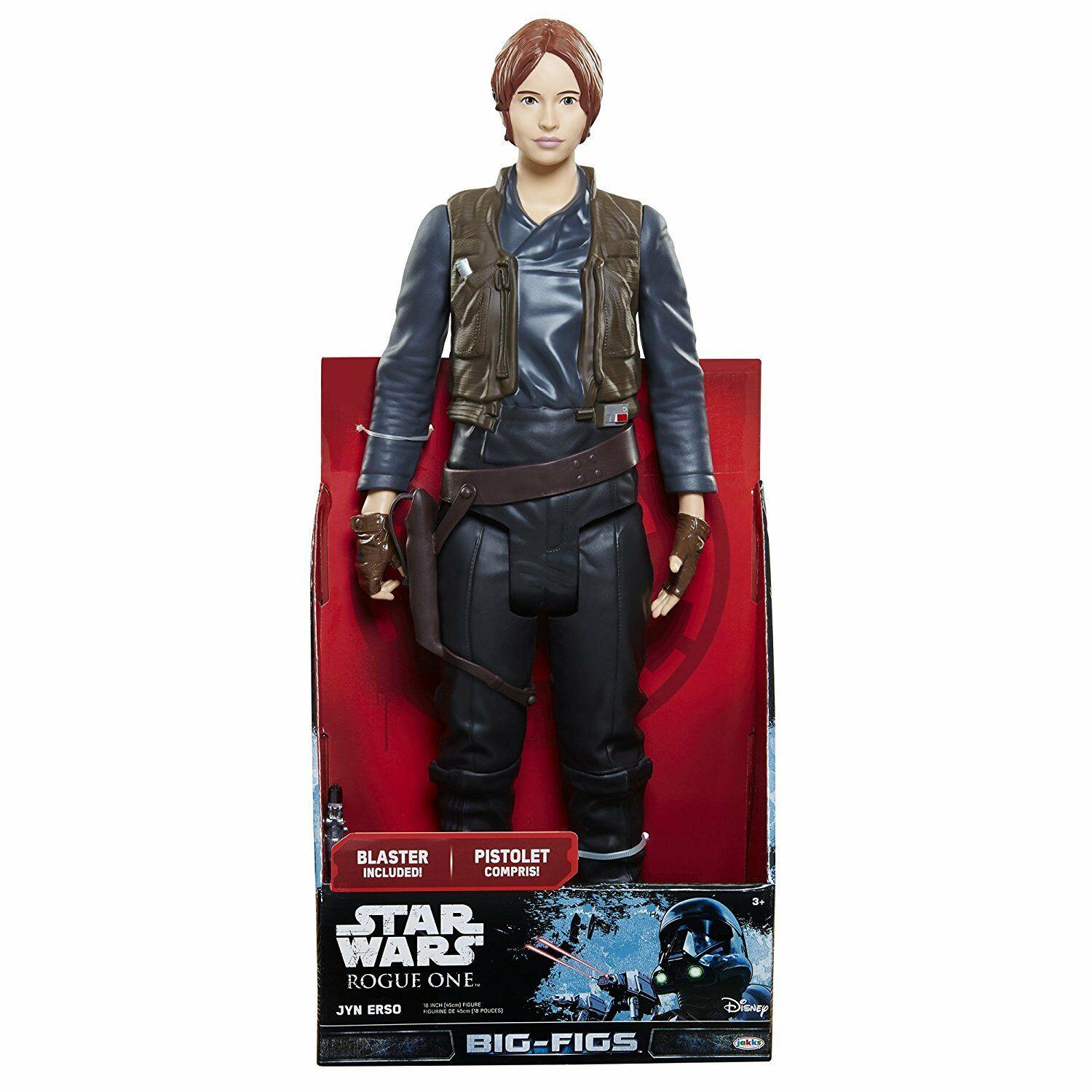 Star Wars Rogue 1 BIG FIGS Jyn Erso 20 inch SCALE JAKKS PACIFIC new