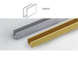 profilo angolare L cm 100 h argento silver 20x10x1 mm profili alluminio