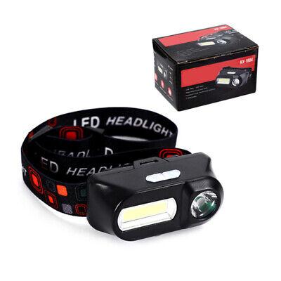 6 Modes USB Rechargeable COB LED Headlamp Headlight Head Light Torch Flashlight