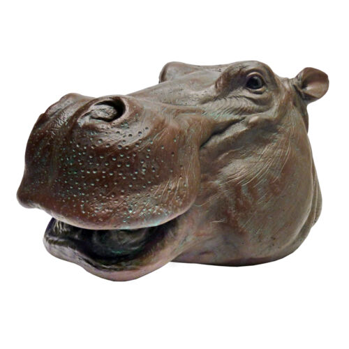 Hippopotamus Garden Sculpture African Wildlife Hippo