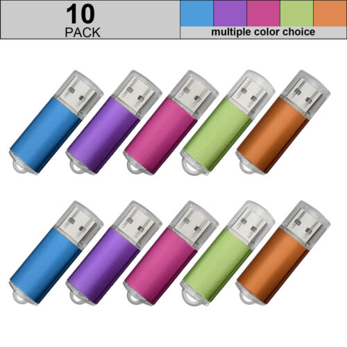 10X 1G//2G//4G//8G//16G USB Flash Drives Flash Memory Stick Thumb Pen Drive Colorful