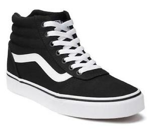 b9f35e5bc0aa VANS Ward Women s Sneakers High Top Black Athletic Canvas Skate ...