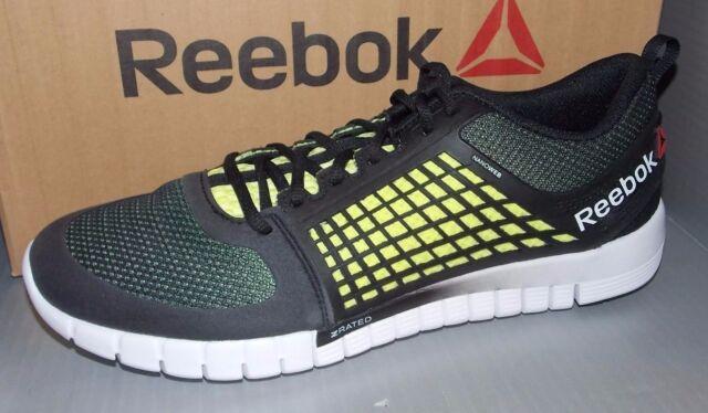 1d349d8cfb0faa Reebok Z Quick Electrify Sz US 13 M Black Mesh Running SNEAKERS Mens Shoes