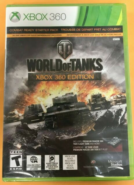 WORLD OF TANKS XBOX 360 EDITION COMBAT READY STARTER PACK BRAND NEW SEALED