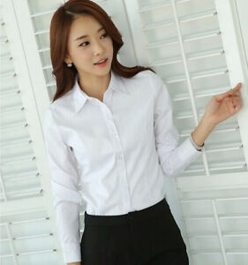 Image Is Loading Fashion Women Office School S Long Sleeve Las