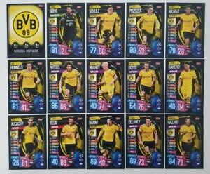 2019-20-Match-Attax-UEFA-Champions-Soccer-Cards-Borussia-Dortmund-Team-Set