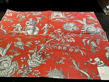 Vintage MANUEL CANOVAS ~ Paris Fabric Remnant - MANDARIN - Asian Chinese TOILE