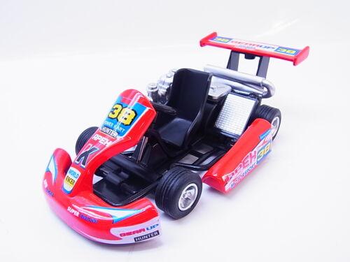LOT 13953Turbo Go Kart rot Modellauto 1:18 Geschenk Power Kart Die-Cast NEU