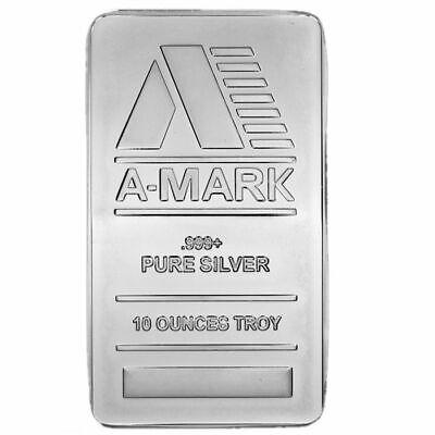 10 oz A-Mark Silver Bar (New)