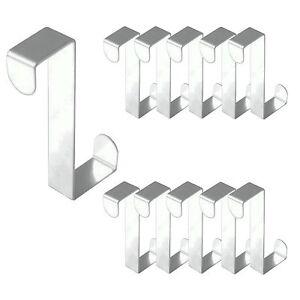 2-12-x-Edelstahl-Tuerhaken-Universal-Tuer-Haken-Gaderobenhaken-Kleiderhaken