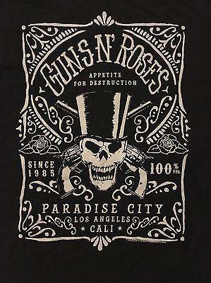 GUNS N' ROSES cd lgo Appetite PARADISE CITY Official GREY SHIRT XXL 2X New OOP